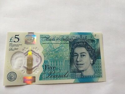 AA Prefix New Plastic £5 Five Pound Note With 3 Print Errors Mistakes!