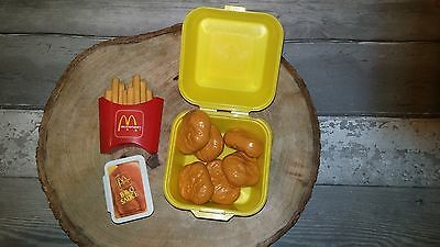 McDonalds McDo Fisher Price Fun Food Chicken Mc Nuggets Meal toy fries bbq sauce