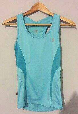 Karrimor Run Size 8 Ladies Vest Sports Gym Top Turquoise