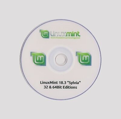 LINUX MINT 18.2 LTS LIVE 32 & 64Bit On One Disc Cinnamon Only £1.19