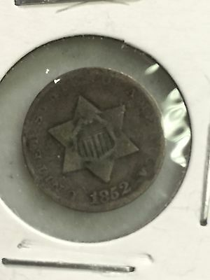 1852 Type 1 Three Cent Silver Trime