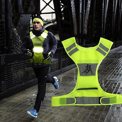 High Visibility LED Reflective Vest + 2 Armbands Night Sports Running Cycling