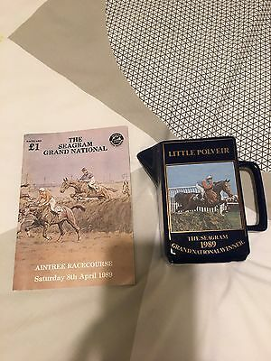 1989 Grand National Race Card and Water Jug