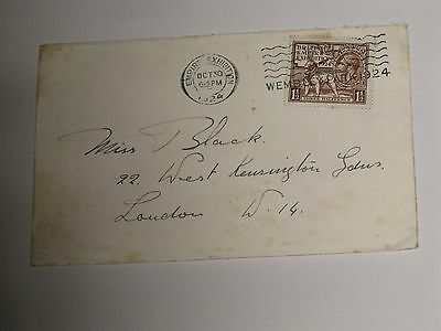 Britsh Empire Exhibition Stamped Envelope Posted October 30Th 1924.