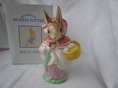 Beatrix Potter Mrs Rabbit, large size, Royal Albert boxed, best condition.