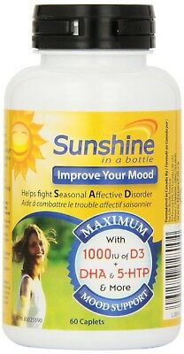 Nu-Life Sunshine in a Bottle Caplets 60 Count Bottle