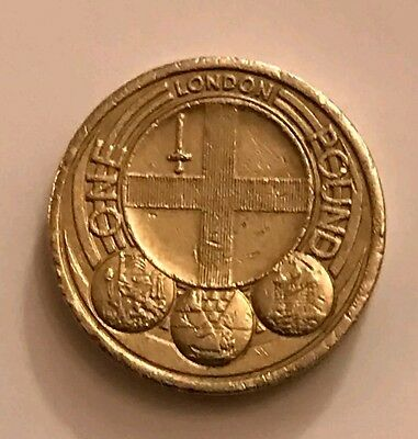 Uk £1 Coin One Pound 2010 Capital Cities City Badge Of London Circulated