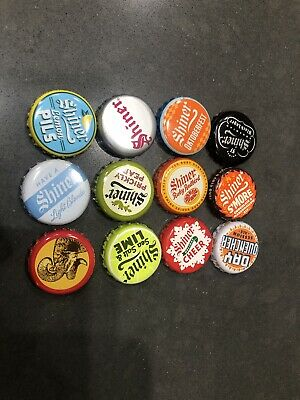 12 Different Shiner Beer Bottle Caps.  Free Standard Shipping!!