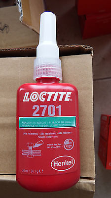 LOCTITE 2701 High strength, low viscosity green methacrylate-based threadlocking