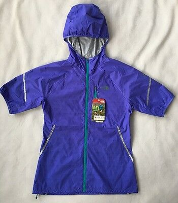The North Face Womens Flight Running Jacket SMALL Reflective S/S WP NEW $150