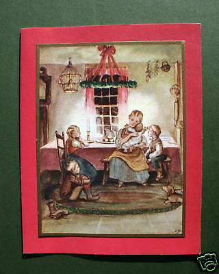 Vintage Unused Christmas Greeting Card ~ Tasha Tudor ~ Breathtaking