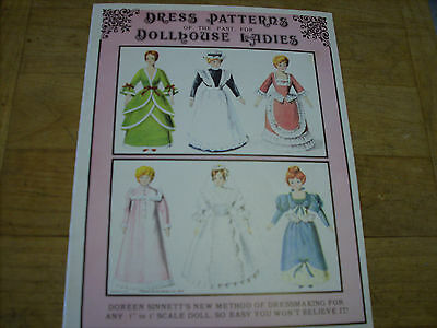 Dress Patterns of The Past for Dollhouse Ladies by Doreen Sinnett