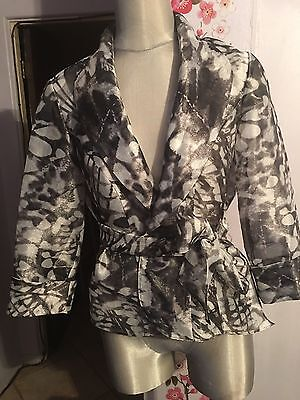 Alex Evenings Sheer Wrap Tie Waist Jacket Med. New Nordstrom