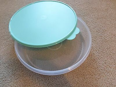 "Tupperware Pie Cookies Cupcake & Pizza Container 12"" Large Round Mint Seal New"