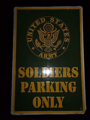 U.S. Army Soldiers parking only metal sign