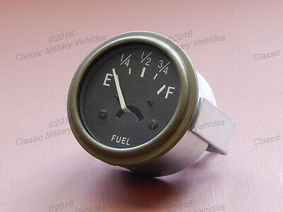 Willys MB Ford GPW Fuel Gauge 12 Volt. Best USA CJ2A Gas Gage Guage.