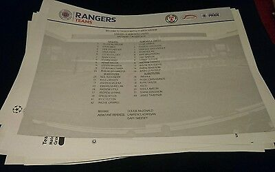 2010 friendly teamsheet Rangers v Newcastle