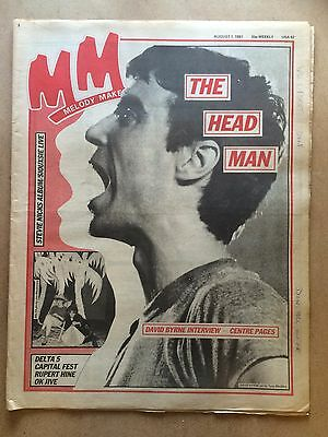 Melody Maker, Aug 1981, Talking Heads David Byrne, Siouxsie