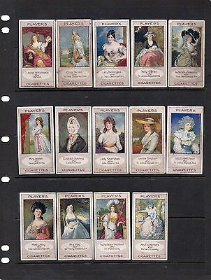 Players 1914 - Bygone Beauties - 14 Of Set Of 25 Cards Good Condition