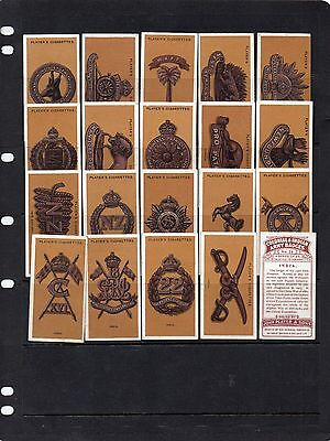Players 1916 - Colonial & Indian Army Badges - 20 Of Set Of 25 Cards Excellent