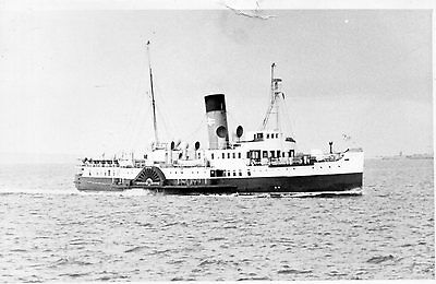 "Old Hawks Postcard - Paddle Steamer ""ryde"" Near Southsea 1969"