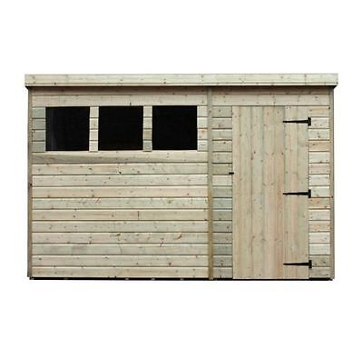 Wooden Garden Shed 10X8  Pent Shed Pressure Treated Tongue And Groove Windows