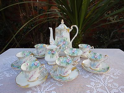 Paragon By Appointment Woodland Bluebell Demitasse cups Coffee set