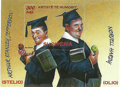 Albania Stamps 2009. COMEDIANS Stanley Laurel and Oliver Hardy. Block MNH