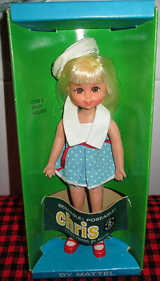 "1966 Tutti PLATINUM ""CHRIS"" DOLL in Exc.BOX~ 3570~Nr.Mint Doll+Outfit~SHIP SHAPE"
