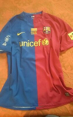Fc Barcelona Player Issue Shirt Leo Messi #10 Final Copa Del Rey 08/09