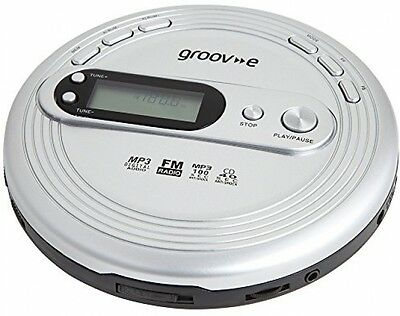 Groov-e GVPS210 Retro Series Personal CD Player With Radio, MP3 Playback And -