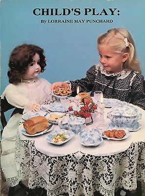 Children's Vintage Play Dishes - Pottery Porcelain Glass Etc. / Scarce Book