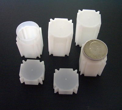 Square CoinTubes  for  Morgan - Peace & Eisenhower Silver Dollars      PVC-FREE