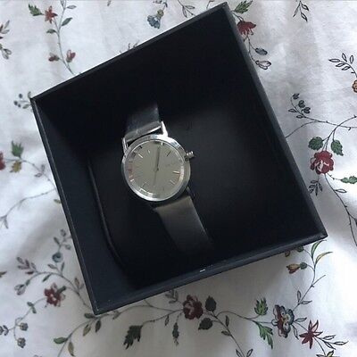 Genuine DKNY Silver Women's Watch With Leather Strap