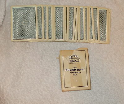 """""""the Sign Of Good Ale Brickwoods - The Portsmouth Brewery"""" Playing Cards"""