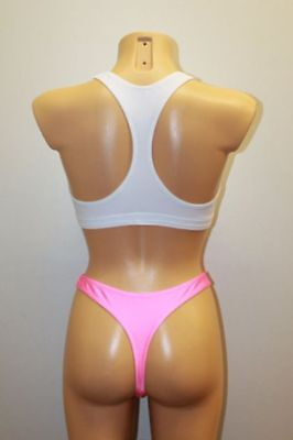 Light Pink Spandex Women's Underwear G-String Panties Choose Your Size S M or L