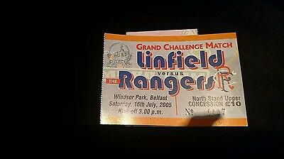 2005 friendly ticket Linfield v Rangers