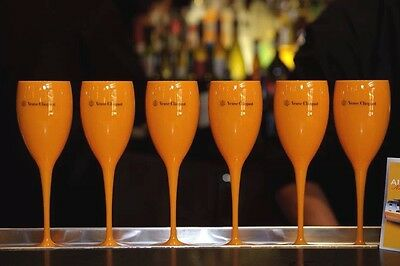 Veuve Clicquot Yellow Champagne Poolside Hot Tub Polycarb Flutes New Unboxed X 4