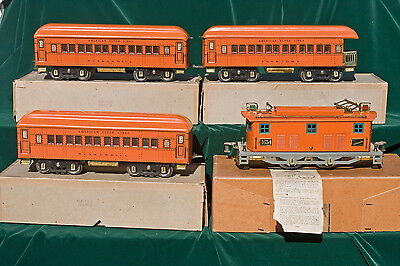 "Boxed American Flyer ""the Statesman"" Wide Gauge Passenger Set - Cataloged 1473"