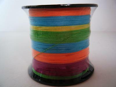 BRAID Fishing Line 100% Super Dyneema SPECTRA 300M Multi-colour Mixed sizes