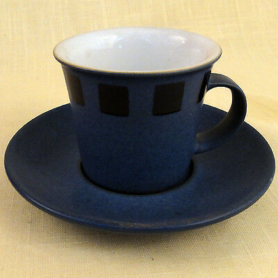 "REFLEX Denby AFTER DINNER CUP & SAUCER SET 2.4"" tall NEW NEVER USED England"