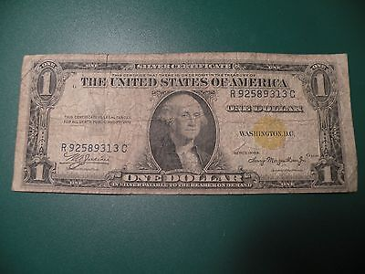 1935 A North Africa Note $1 Yellow Seal One Dollar Bill T16