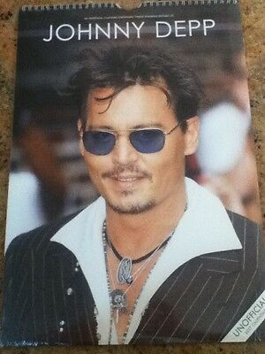 Collectable Large Johnny Depp 2017 Wall Calendar NEW & SEALED