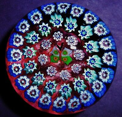 """PERTHSHIRE JOHN DEACONS SCOTLAND """"CONCENTRIC BUTTERFLY MILLEFIORI"""" Paperweight"""