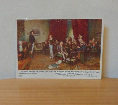 Vintage Postcard-The Only Meeting Of Burns And Scott From The Painting By Hardie