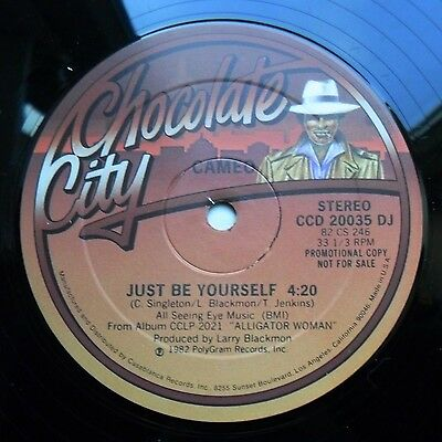 """Soul/Funk 12"""" CAMEO - JUST BE YOURSELF - CHOCOLATE CITY RECORDS - MP3"""