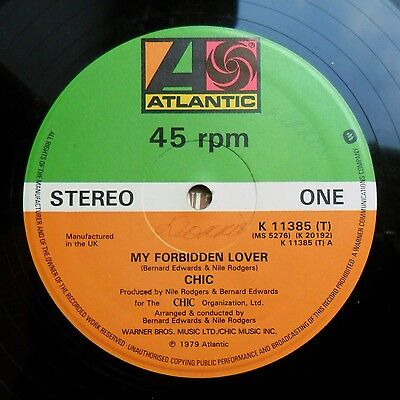 """Soul/Funk 12"""" CHIC - MY FORBIDDEN LOVER/WHAT ABOUT ME - ATLANTIC RECORDS - MP3"""