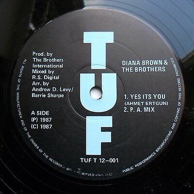 """Soul/Funk 12"""" DIANA BROWN & THE BROTHERS  - YES IT'S YOU/HOT PANTS - TUF - MP3"""