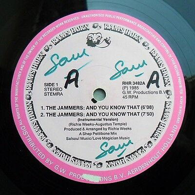 """Soul/Funk 12"""" JAMMERS - AND YOU KNOW THAT/AURRA/SYL CAMPBELL - RAMS HORN - MP3"""
