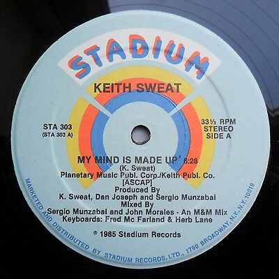 """Soul/Funk 12"""" KEITH SWEAT  - MY MIND IS MADE UP - STADIUM RECORDS - MP3"""